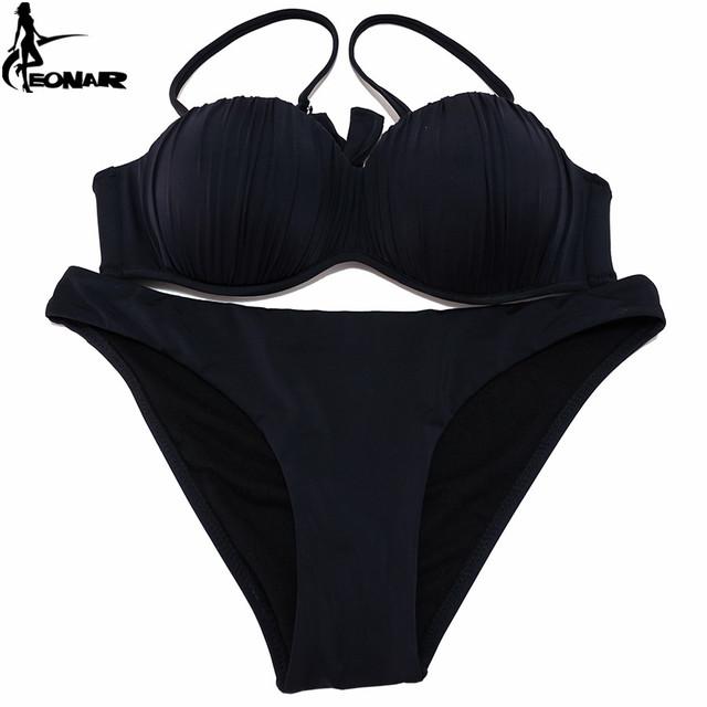 EONAR Swimwear 2017 Top Wavy Push Up Bikini Sexy Bikini Set Brazilian Bikinis Women Bathing suit Swimsuit Plus Size Swimwear XXL