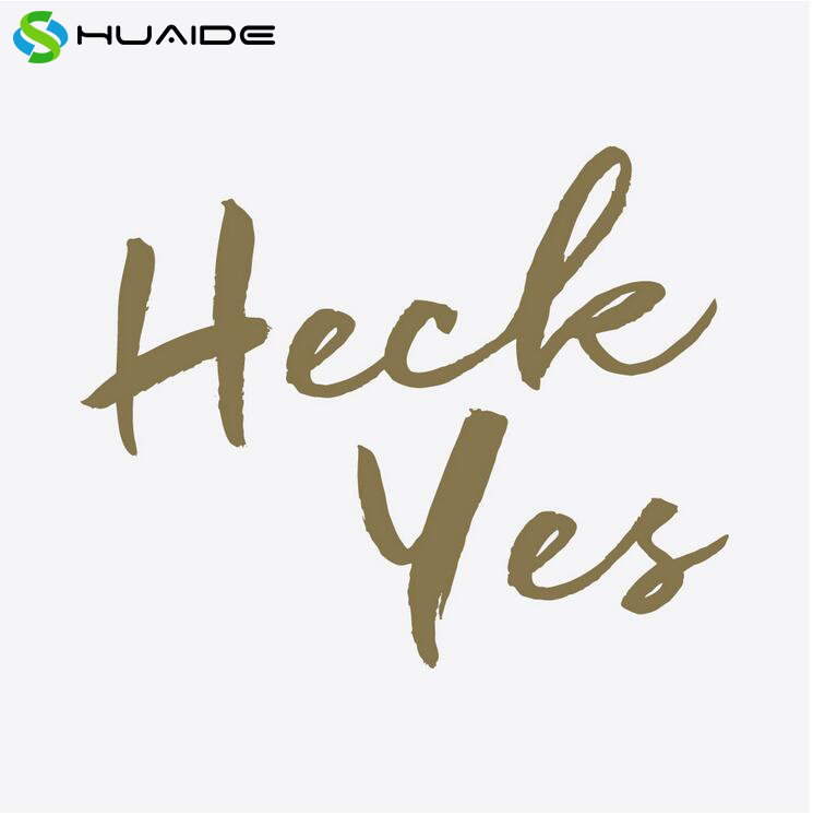 Heck Yes Words Wall Stickers Home Deocr Living Room Bedroom Wall Art Door Decoration Glass Wall Decals Store Wall Decal A325