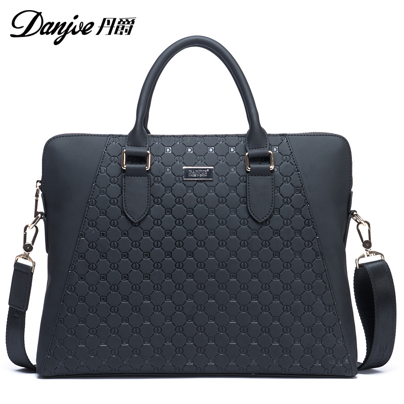 DANJUE Genuine Leather Men Shoulder Bag Handbag Male Brand High Quality Business Messenger Bag Leisure Vertical Crossbody Bag
