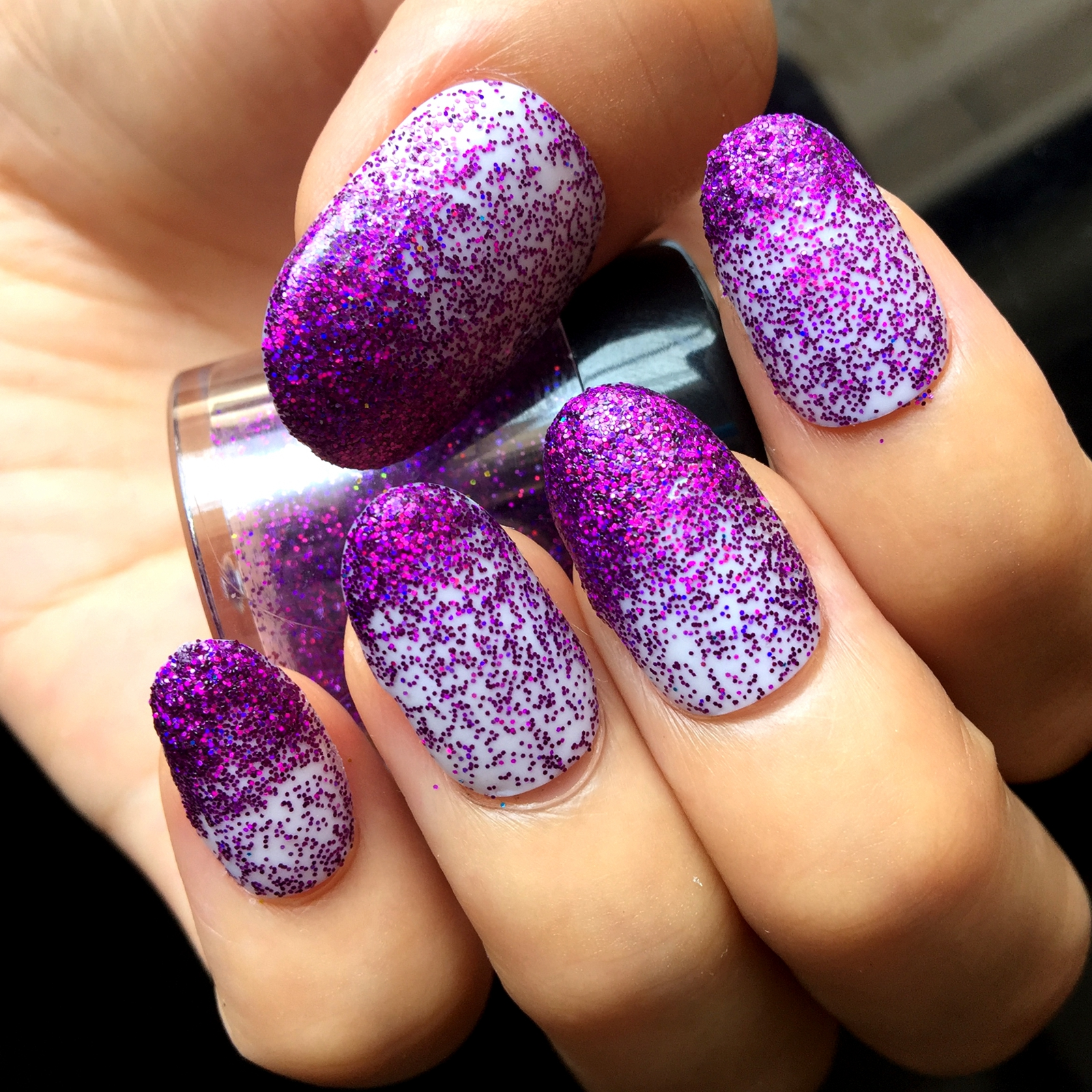 Laser Dark Purple Bling Shinning Nail Glitter Powder Perfect ...