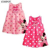 Free Shipping 2014 New Cute Baby Girls Summer One Piece Dress Children Sundress Kids Cute Minne