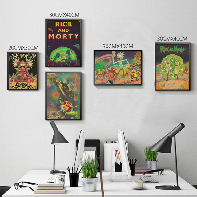 online shop woonkamer thuis wanddecoratie retro poster rick en