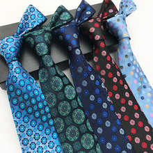 2018 New Silk 8 Cm Geometry Floral Tie for Wedding Party Boyfriend Gifts Fashion  Men Luxury Paisley Ties Mens