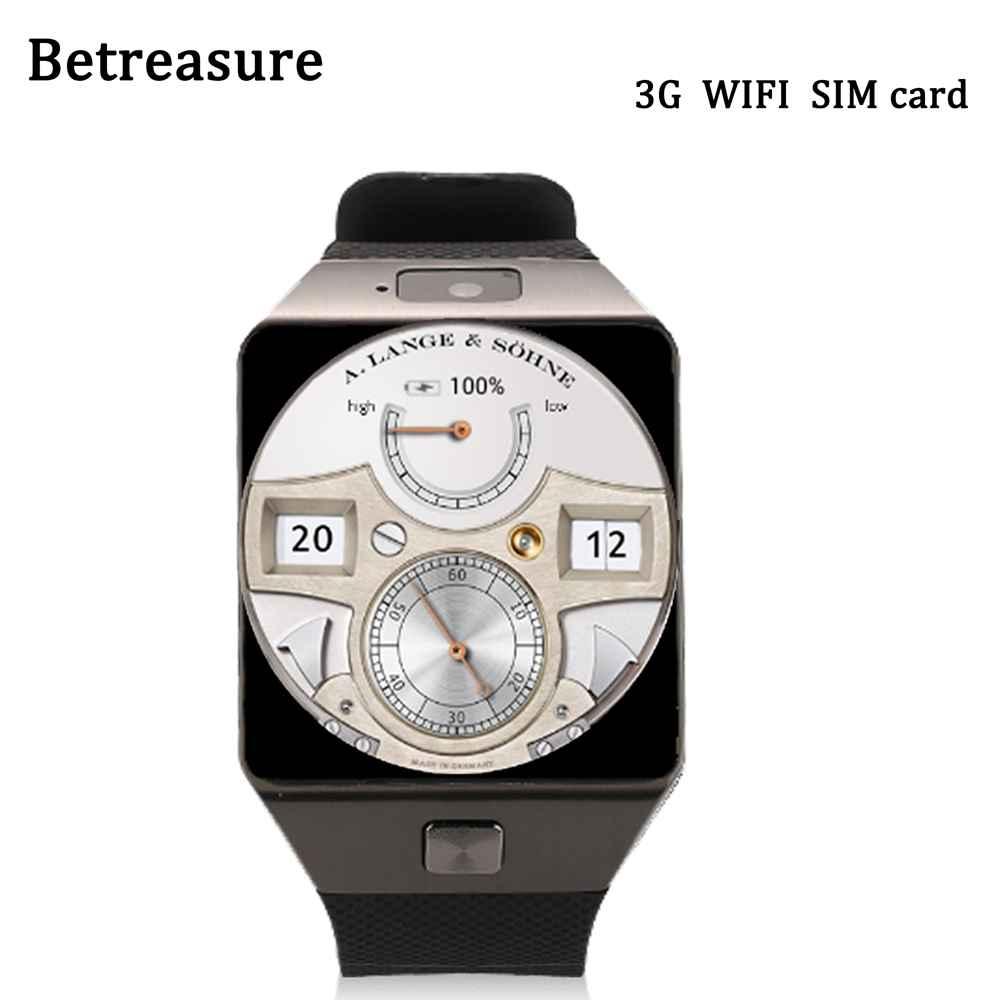 Betreasure QW09 Smart Watch Android Wifi 3G Bluetooth SIM Wristwatch MTK6572 Pedometer Smartwatch Phone PK DM98 KW88 songku bluetooth4 0 3g wifi qw09 android smart watch real pedometer sim card call wrist wear anti lost smartwatch phone
