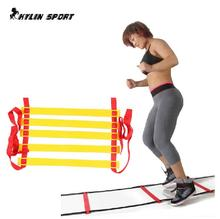 Top Quality 16 section 8 meters long Soccer Training Speed Agility Ladder + Carry Bag Outdoor Fitness Equipment ladder недорого