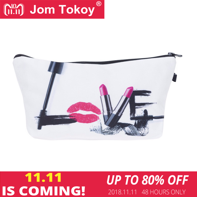 Jom Tokoy Fashion Brand cosmetic organizer bag 3D Printing Women Travel Makeup Case Portable Cosmetic Bags jom tokoy cosmetic bag fashion women brand makeup bag 3d printing unicorn cosmetic organizer bags