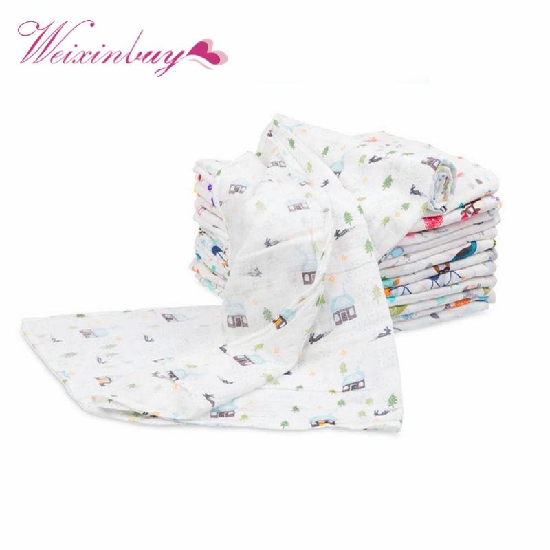2017 New Single layer Muslin Cotton Baby Swaddles For Newborn Baby Blankets Black & White Gauze Bath Towel