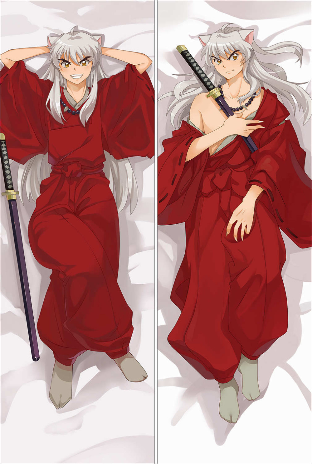 Japanese Anime Inuyasha Characters Throw Pillow Cover Hugging Body Pillowcase Throw Dakimakura Dropshipping Custom