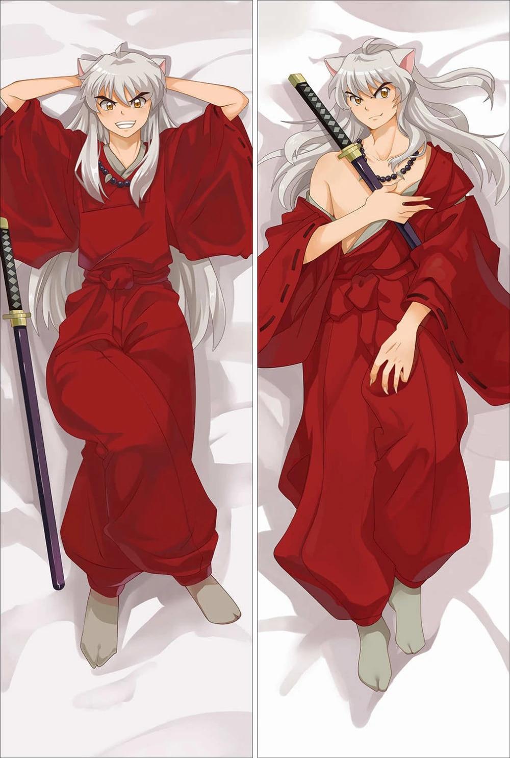 japanese anime inuyasha characters throw pillow cover hugging body pillowcase throw dakimakura dropshipping custom