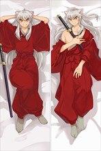 Japon animesi Inuyasha karakter atmak yastık örtüsü sarılma vücut yastık kılıfı atmak Dakimakura dropshipping özel