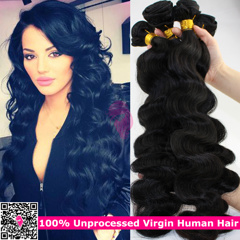 Mongolian Body Wave Virgin Hair 4pcs Lot Natural Black Hair