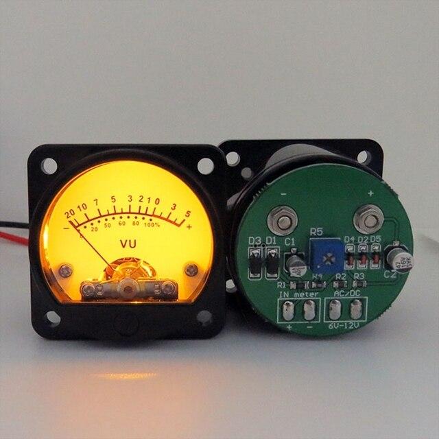 Placa amplificadora stereo, 2 peças, 45mm, medidor grande, indicador de nível ajustável com driver