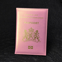 Nederlands Passport Cover Soft Pu leather Nederland Dutch Women Passport Holder Nederlanden Netherlands Paspoorthoesj