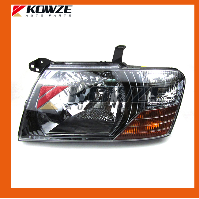 Black Head Lamp Head Light Left  & Right For Mitsubishi Pajero Montero 3 III 2000 - 2008 MN133749 MN133750 air inlet snorkel for mitsubishi pajero montero shogun 3 iii v73 2000 2006