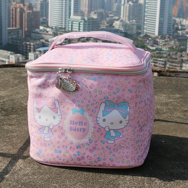 49cd1e845 Japan style hello kitty makeup case High storage capacity Dot cosmetic case  very cute women wash