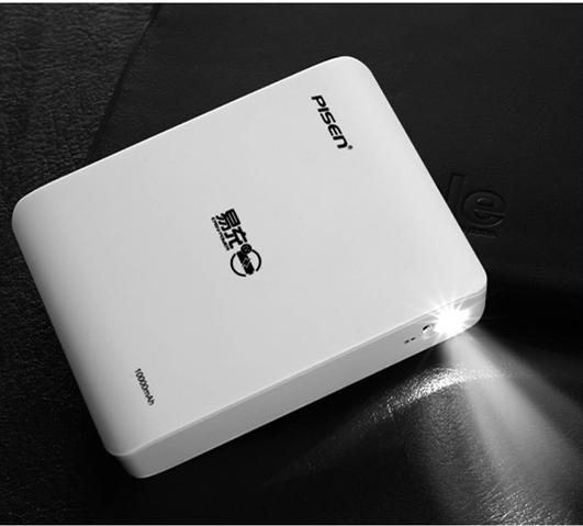 Pisen 10000mah портативное зарядное устройство для мобильного c LED Светодиодном фонариком для Смартфона айфон,Samsung HTC Huawei Xiaomi
