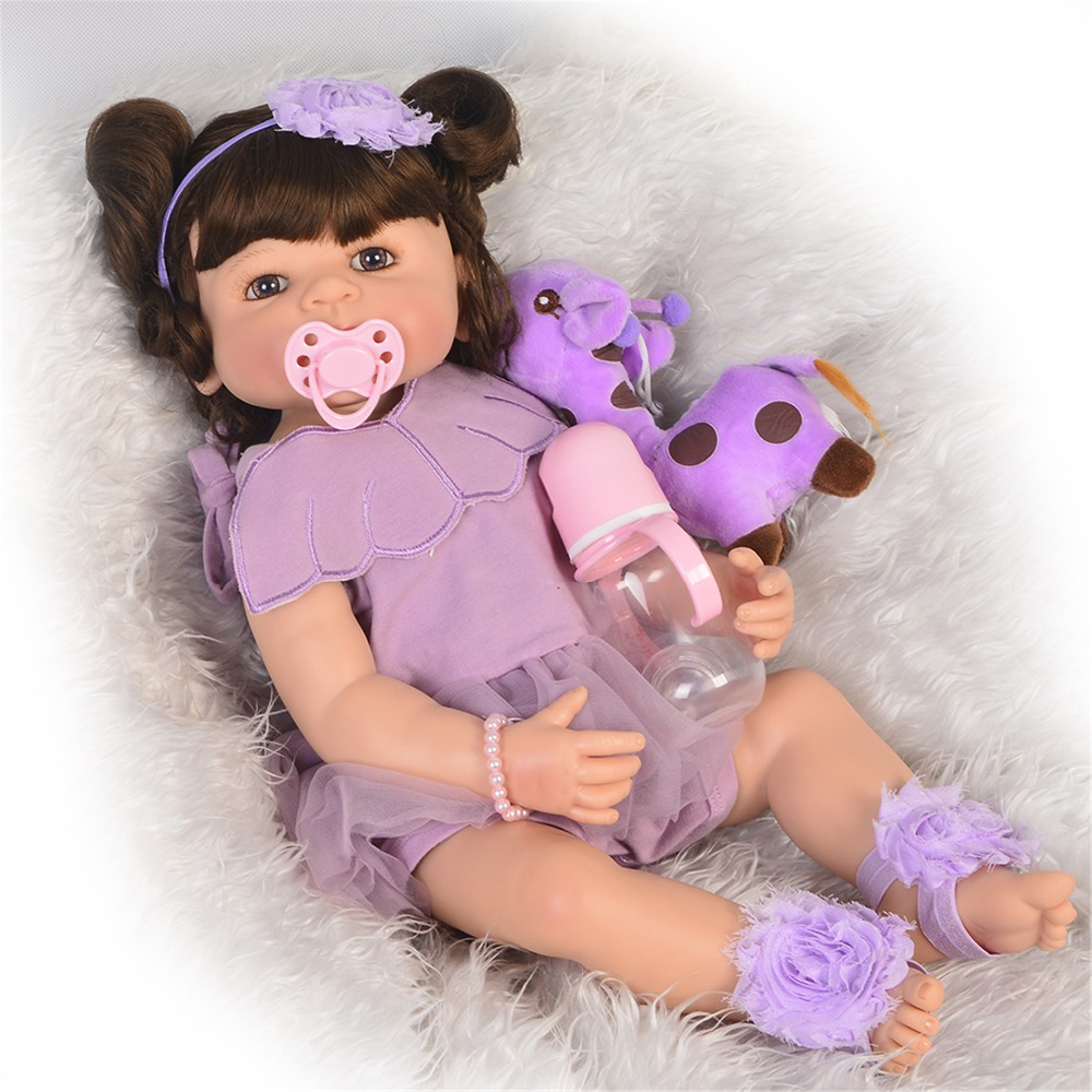 55cm reborn baby girl doll toy like real full silicone body newborn babies doll with 1pcs giraffe plush toy bebes reborn bonecas55cm reborn baby girl doll toy like real full silicone body newborn babies doll with 1pcs giraffe plush toy bebes reborn bonecas