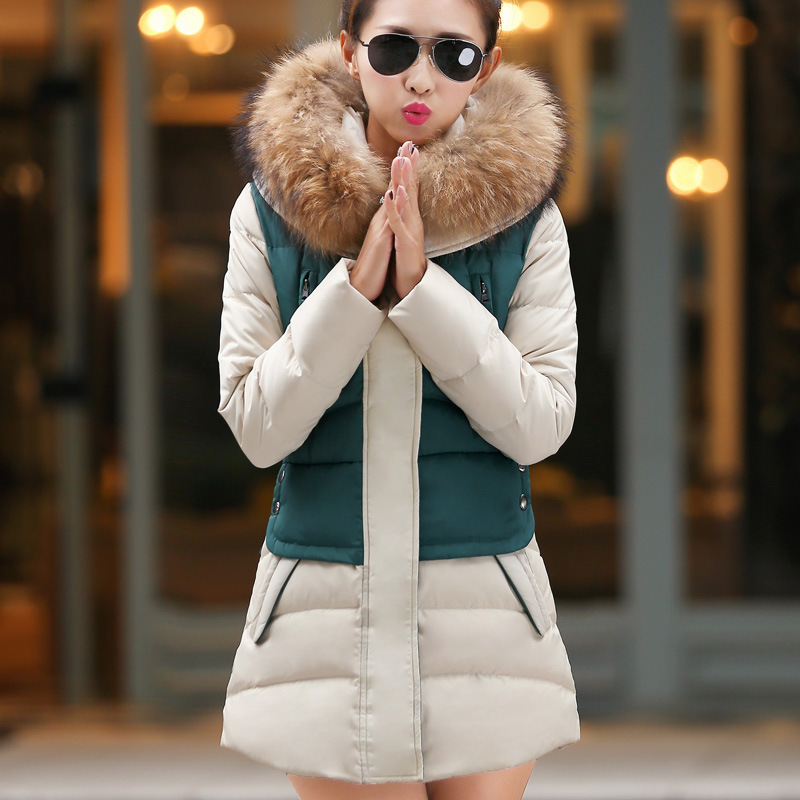 Wadded Jacket For Women Winter Jackets Nice Cotton Padded Parkas Hooded Imitation Fur Collar Plus Size Slim Coat  2XL HJ211 2017 women winter hooded winter coat with fur collar pockets female short jackets cotton padded parkas wadded snow wear yl002