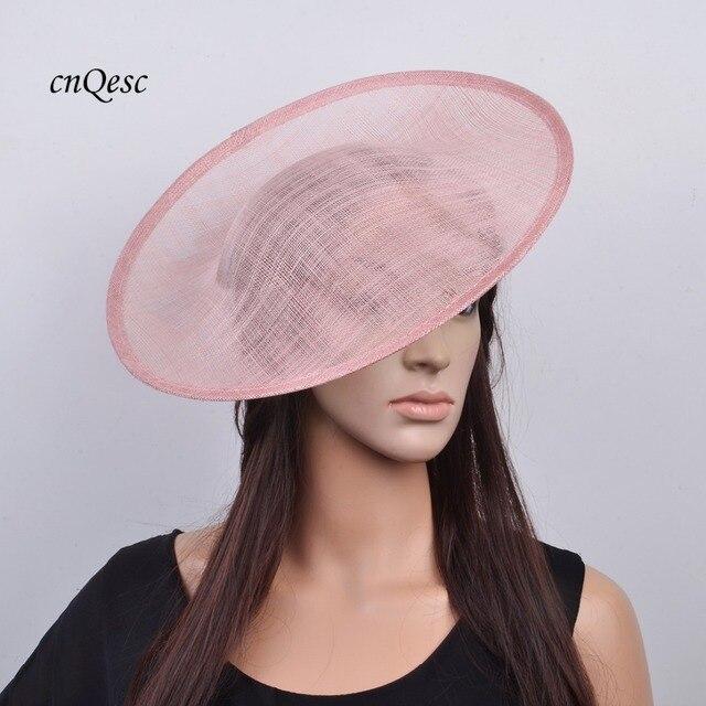 e34bcb1515312 Big Blush pink sinamay fascinator base hat for kentucky derby wedding.