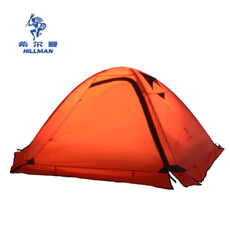 2 person 4 season Outdoor Camping Tent Hiking Beach Tent 310t Nylon with Silicon Coated Camping Tent with snow skir 995g camping inner tent ultralight 3 4 person outdoor 20d nylon sides silicon coating rodless pyramid large tent campin 3 season