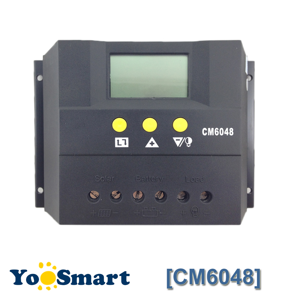60A Solar Charge Controller 48V LCD Display PV Panel Battery Charge Controller Solar System Home Indoor