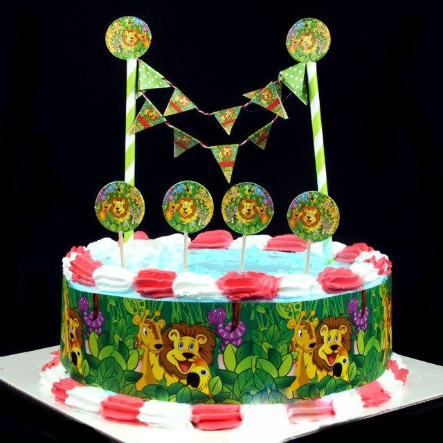 1 Satz Von Dschungel Tier Kuchen Verziert Wahlen Baby Dusche Junge Geburtstag Party Dekorationen Wie