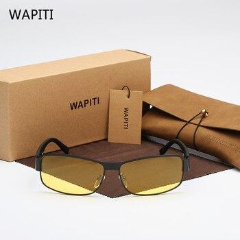 4cd8ee7f51 WAPITI amarillo gafas de sol polarizadas de las mujeres de los hombres gafas  de visión nocturna gafas de conducir conductor aviación Polaroid gafas de  sol ...