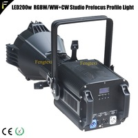 Theater Studio LED Profile Light RGBW 4in1 200w With Beam Angle 19 Degree Stage LED Profile Focus Lighting