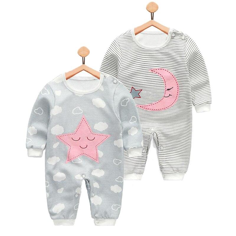 Spring Autumn Infant Uniform Dress, Newborn Cloth Boys Girls Long Sleeved Jumpsuit Outerwear Cotton   Romper   Baby Boutique Clothes
