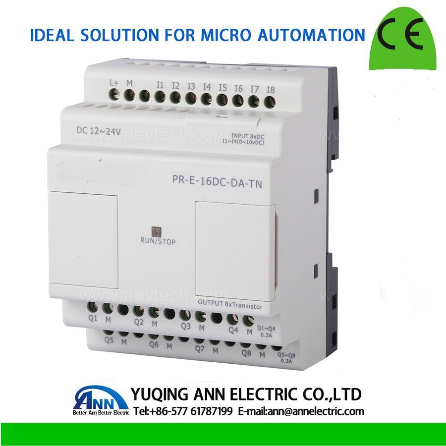 PR-E-16DC-DA-TN, module d'extension, contrôleur logique Programmable, relais intelligent, DC12V-DC24V, 4 DI/AI + 4 DI, 8 Transistors (PNP)