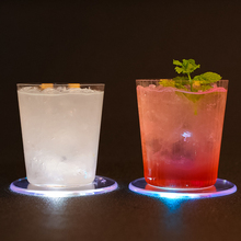 Crystal LED Light Mat Cup Holder Table Placemats Simple and Creative Mug Coaster Heat-resistant Cup Coasters