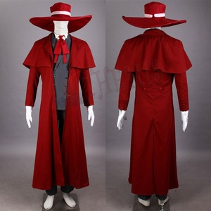 Image 2 - 吸血鬼ハンターコスプレヘルシングアーカードコスプレ衣装クール男スーツと高綿コンテンツロングコート最高衣装