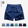 Mens Underwear Boxers Shorts Casual Cotton Sleep Underpants High Quality Brands Plaid Loose Comfortable Homewear Striped Panties