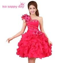 Платье принцессы для женщин; цвет желтый, розовый; корсетные вечерние платья; короткие фатиновые Бальные платья на одно плечо; поступление; Модное пышное платье для девочек; W2141