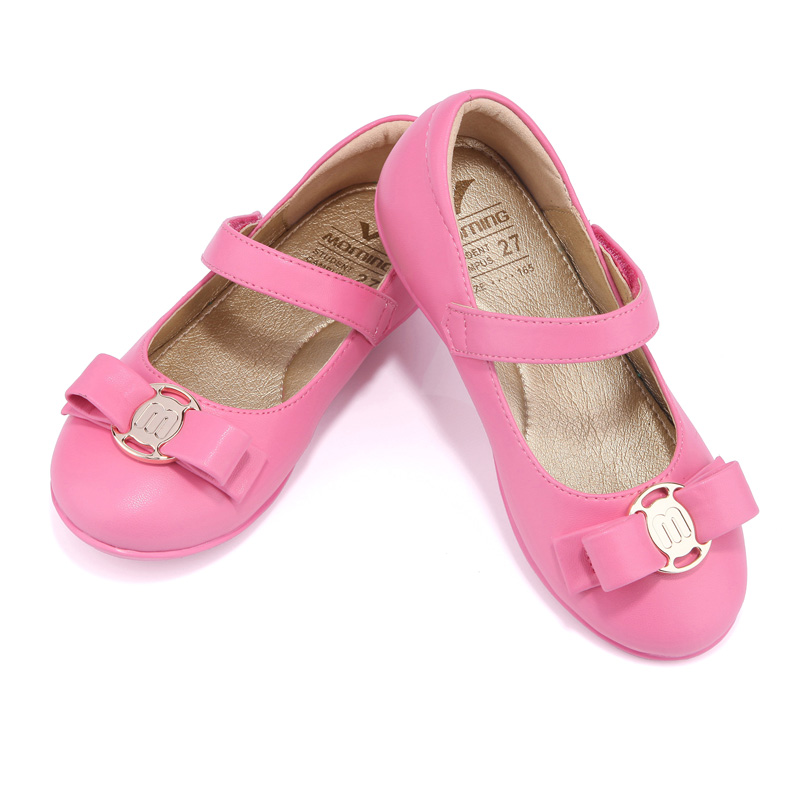 new spring autumn rose red girls shoes leather flat for children shoes catwalk shoes princess kids shoes free shipping kelme 2016 new children sport running shoes football boots synthetic leather broken nail kids skid wearable shoes breathable 49