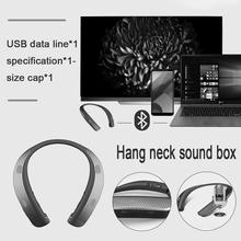 2018 Hot Sale Creative Neck Bluetooth Wearable Speaker High Quality Neck Hanging Portable Bluetooth Running Speaker Dropshipping