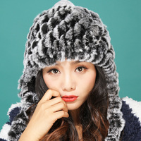 St.Susana 2018 New Arrival Women Autumn Winter Fur Hat Fashion lady's Real Rex Rabbit Fur Hat Girls Female Warm Winter Hat