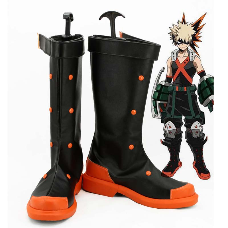 Coshome Boku No Hero Academia Midoriya All Might Shoto Todoroki Bakugou Cosplay Shoes My Hero Academia Boots (7)