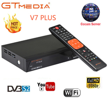 GTMEDIA V7 PLUS with free Cccam Clines for 1 year Spain Europe DVB-T2 DVB-S2 Receptor H.265 Satellite Receiver vs Freesat V7 V8 dvb s2 1080p hd v8 nove satellite tv receiver with 1 year cccam clines iks full hd h 265 freesat v8 nove sat decoder youtube
