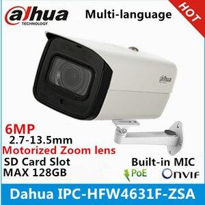 Image 1 - Dahua IPC HFW4631F ZSA 6Mp IP 2.7 13.5Mm Varifocal Cơ Giới Ống Kính Tích Khe Cắm Thẻ Nhớ SD Và MIC hồng Ngoại 80 Mét Súng Máy Ảnh