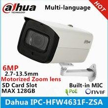داهوا IPC HFW4631F ZSA 6Mp IP كاميرا 2.7 13.5 مللي متر فاريفوكال عدسة بموتور مدمج SD فتحة للبطاقات وميكرفون IR 80 متر بندقية الكاميرا