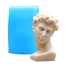 Famous Sculpture Giuliano Silicone Soap Mold DIY Handmade Candle Mould 3D Craft Resin Clay Decorating Tool цена 2017