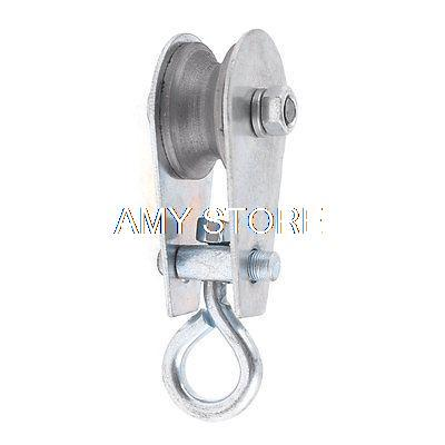 0.03T 0.05T 0.1T 0.2T 0.3T Ton Single Groove Sheave Swivel Hook Eye Rope Pulley Hoist Tool Metallic Lifting Tackle 30kg 100kg