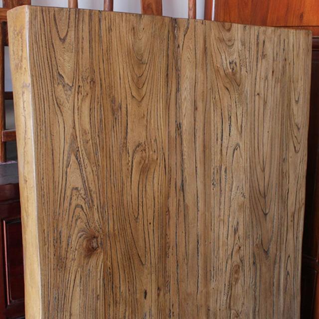 placa de la barra de madera maciza pura olmo viejo tablero encimera mesa de comedor
