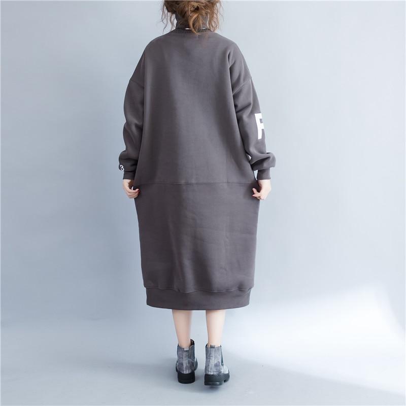 2017 winter women turtleneck long dresses plus size fashion design letters  embroidery women oversized sweatshirt dress-in Dresses from Women s Clothing  on ... b731385276e3