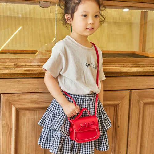2019 милая сумка-мессенджер для малышей, Детская сумка принцессы для девочек, сумка на плечо, однотонная Сумочка принцессы с бантом, кошельки для монет