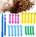18pcs Manual Hair Snail Rolls Curls Styling Kit Salon Tools No Heat Hair Curling Culer Tool Hair Styling Roller