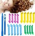 18pcs Manual Hair Snail Rolls Curls Styling Kit Salon Tools No Heat Hair Curling Culer Tool Hair Styling Roller