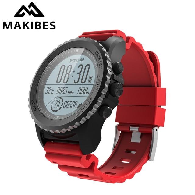 1 שנה אחריות Makibes G07 GPS גברים שעוני יד Bluetooth חכם שעון IP68 עמיד למים שנורקל בתוך 5 מטרים חיצוני תצוגה