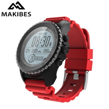 1 yıl garanti Makibes G07 GPS erkek kol saati Bluetooth akıllı saat IP68 su geçirmez dalış içinde 5 metre açık ekran